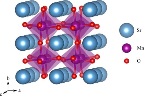 Self-consistent site-dependent DFT+$U$ study of stoichiometric and defective ${\mathrm{SrMnO}}_{3}$