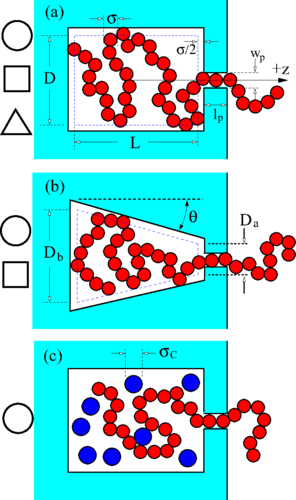 Polymer translocation into cavities: Effects of confinement geometry, crowding, and bending rigidity on the free energy